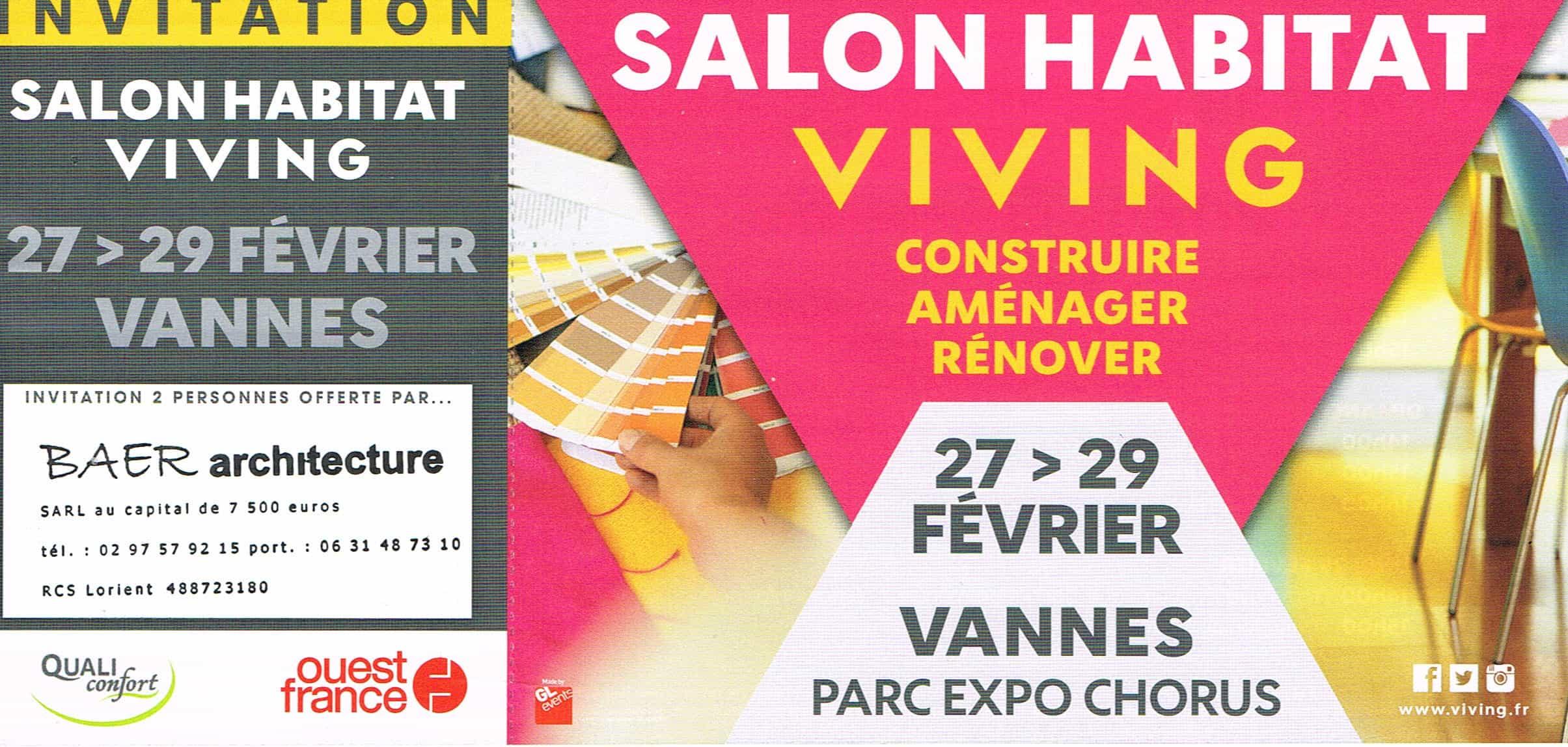 Baer architecture architecte maison individuelle - Salon habitat vannes ...